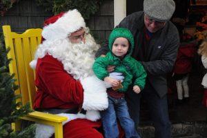 santa with a boy