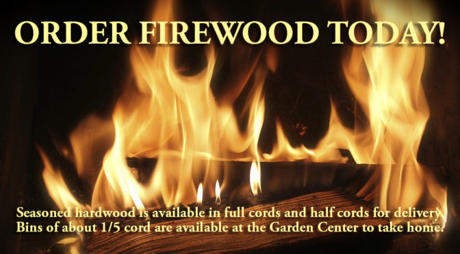 Order Firewood Today!