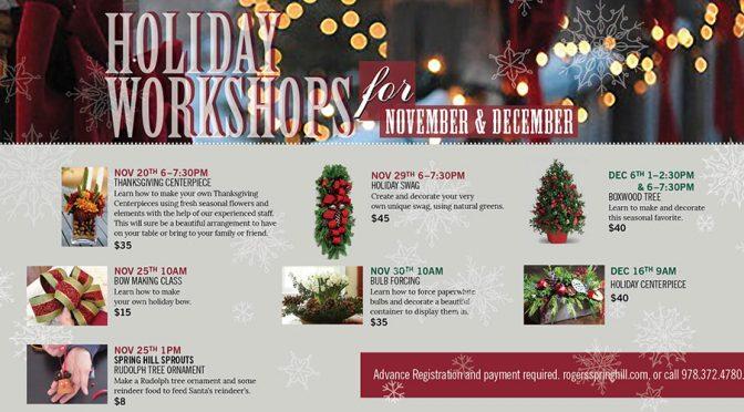 Holiday Workshops 2017